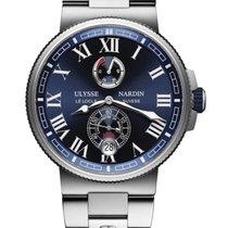 Ulysse Nardin Marine Chronometer Manufacture Steel 43mm Blue