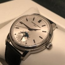 Frederique Constant Manufacture Classic Moonphase pre-owned 40.5mm White Moon phase Date Buckle