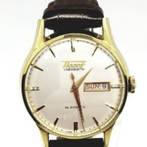 Tissot Heritage Visodate Acero y oro 40mm Blanco Sin cifras