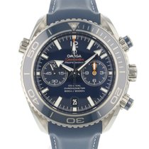 Omega Titane Remontage automatique Bleu Arabes 45.5mm occasion Seamaster Planet Ocean Chronograph