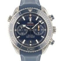 Omega Seamaster Planet Ocean Chronograph Titan 45.5mm Blå Arabiska