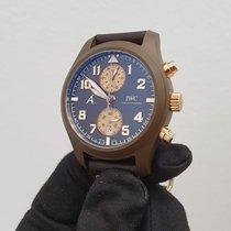 IWC 세라믹 자동 갈색 46mm 중고시계 파일럿 크로노그래프