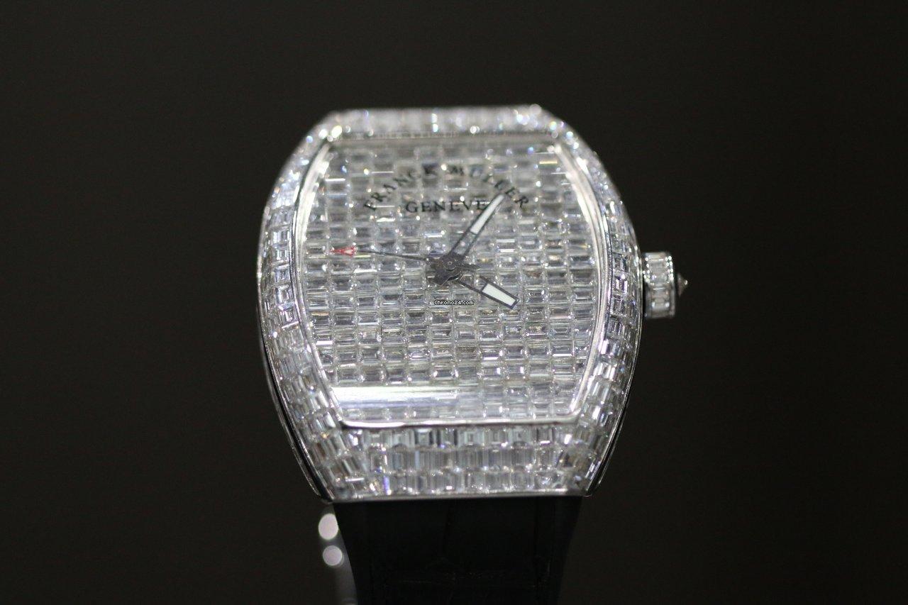 Franck Muller Vanguard Franck muller Vanguard V41 custom upgrad Full Square diamond 2020 pre-owned