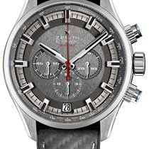 Zenith El Primero Sport pre-owned 45mm Grey Chronograph Date Tachymeter Rubber