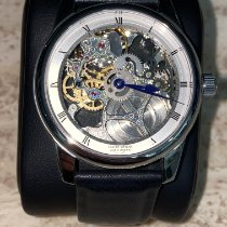 Claude Meylan Steel 42 MMmm Manual winding Claude Meylan Vallee de Joux SQUELETTEN pre-owned United States of America, Florida, BOYNTON BEACH