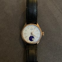 Rolex Cellini Moonphase Pозовое золото 39mm Белый Без цифр