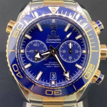 Omega Seamaster Planet Ocean Chronograph Or/Acier 45.5mm Bleu Arabes