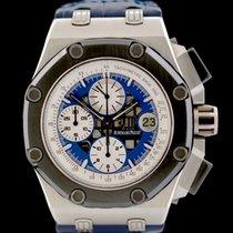 Audemars Piguet Platin Automatik Blau Keine Ziffern 42mm gebraucht Royal Oak Offshore Chronograph