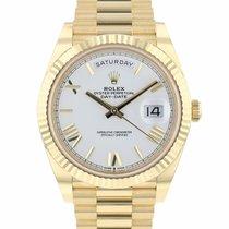 Rolex Day-Date 40 Geelgoud 40mm Wit Romeins Nederland, Maastricht