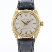 Rolex Bubble Back Or jaune 34mm Blanc Sans chiffres