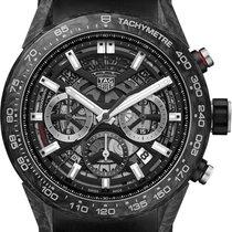TAG Heuer Carbon Automatic Black No numerals 45mm new Carrera