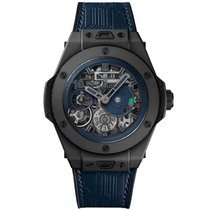 Hublot Cerámica Cuerda manual Negro 45mm usados Big Bang Meca-10