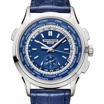 Patek Philippe Oro blanco Automático Azul Sin cifras 39.5mm nuevo World Time Chronograph