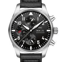 IWC Pilot Chronograph Acero 43mm Negro Arábigos España