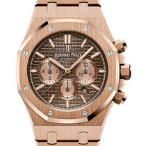 Audemars Piguet Royal Oak Chronograph Oro rosa 41mm Marrón Sin cifras España