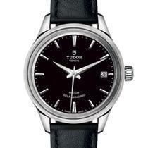 Tudor Style Steel 34mm Black