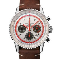 Breitling AB01219A1G1X2 Staal 2021 Navitimer 1 B01 Chronograph 43 43mm nieuw