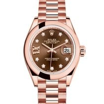 Rolex Rose gold Automatic No numerals 28mm new Lady-Datejust