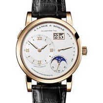 A. Lange & Söhne Red gold Manual winding Silver Roman numerals 38.5mm new Lange 1