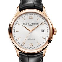 Baume & Mercier Red gold Automatic Silver Arabic numerals 38.8mm new Clifton