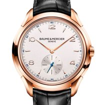 Baume & Mercier Rose gold Automatic Silver Arabic numerals 42mm new Clifton