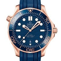 Omega Oro rosa Automático Azul Sin cifras 42mm nuevo Seamaster Diver 300 M