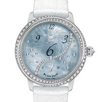 Blancpain Women White gold 36.80mm Mother of pearl Arabic numerals
