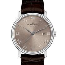 Blancpain Villeret Ultraflach neu 2021 Automatik Uhr mit Original-Box und Original-Papieren 6651-1504-55B