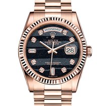 Rolex Day-Date 36 Oro rosa 36mm Negro Sin cifras España