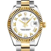 Rolex Lady-Datejust Acero y oro 31mm Blanco Romanos España