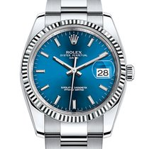 Rolex Oyster Perpetual Date Acero 34mm Azul Sin cifras España