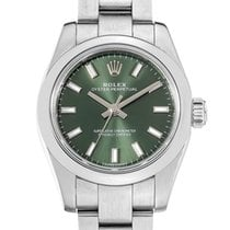 Rolex Oyster Perpetual 26 Steel 26mm Green No numerals