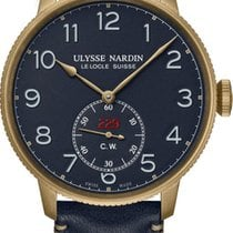 Ulysse Nardin Marine Torpilleur occasion 44mm Bleu Cuir