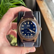 Oris Carl Brashear Bronze 42mm Blue No numerals