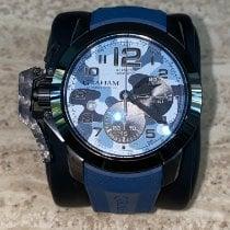 Graham Chronofighter Oversize Steel 47mm Blue Arabic numerals United States of America, Florida, BOYNTON BEACH