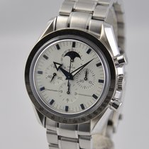 Omega Speedmaster Professional Moonwatch Moonphase pre-owned 42mm White Moon phase Chronograph Date Steel
