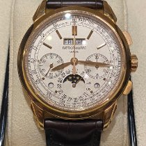 Patek Philippe Rose gold Manual winding Silver No numerals 41mm new Perpetual Calendar Chronograph