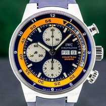 IWC Aquatimer (submodel) pre-owned 44mm Orange Chronograph Date Rubber