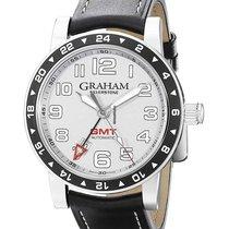 Graham Silverstone Steel 42mm Silver (solid)