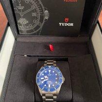 Tudor Titânio Automático Azul Sem números 42mm usado Pelagos