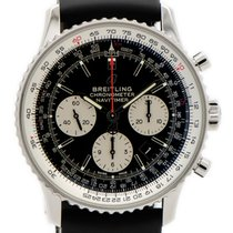 Breitling Navitimer 1 B01 Chronograph 43 pre-owned 43mm Black Chronograph Date Rubber