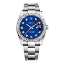 Rolex Datejust II Steel 36mm Blue No numerals