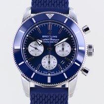 Breitling Superocean Heritage II Chronographe Steel 44mm Blue No numerals