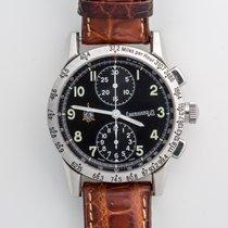 Eberhard & Co. Tazio Nuvolari Steel 39mm Black Arabic numerals