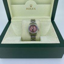 Rolex Oyster Perpetual 26 Steel 26mm Pink Arabic numerals United Kingdom, Ross On Wye