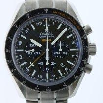 Omega Speedmaster HB-SIA pre-owned 44mm Black Chronograph Date GMT Tachymeter Titanium