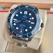 Omega Seamaster Diver 300 M Сталь 42mm Синий Без цифр