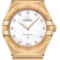 Omega Constellation Quartz Желтое золото 28mm Перламутровый