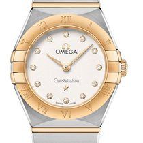 Omega Constellation Acero y oro 25mm Plata