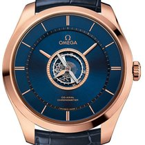 Omega De Ville Central Tourbillon Rose gold 44mm Transparent